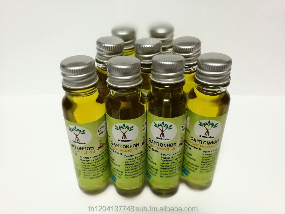 20 ml Agarwood Essential, Body Oil, Aroma, Thai Massage SAMTONHOM