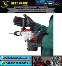 BUILDER MECHANIC SPANDEX FOAM PADDED ANTI VIBRATION SAFETY WORK GLOVES/BEST QUALITY BUY BSLI GLOVES
