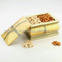 "PD Craft Rajwadi golden Dry Fruit gift Box 6""X8""x5"" inches wedding return gift / birthday gift"