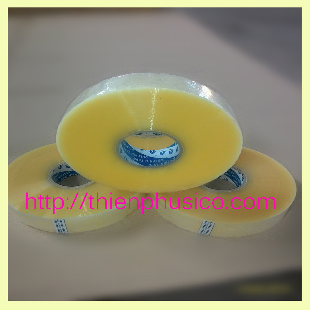 Transparent BOPP adhesive packing tape jumbo roll