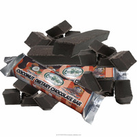 50grams X 4 pcs. Per Pouch COCONUT HIGH FIBER CHOCOLATE BAR, Non-Dairy, Vegan, Sugar Free & Low Glycemic Index