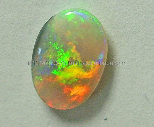 Oval shape white Opal cabochons stone wholesale price