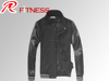 Varsity jacket with leather sleeves for men,new fashion baseball jacket