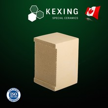 Aluminum Porcelain Monolith Honeycomb ceramic Structured Media for RTO RCO