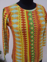 New winter wear girls & ladies wear garments & t-shirts / Hojari fabric nice geometrical printed t-shirts