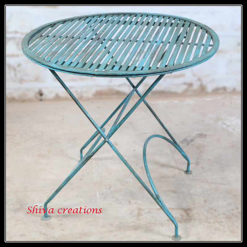 Industrial vintage garden table