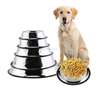 Multi size stainless steel dog bowl