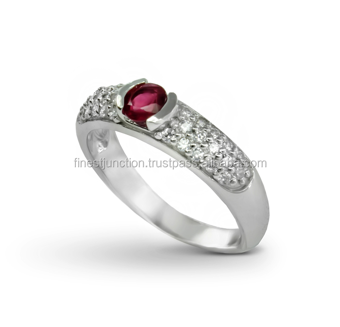 Wholesale Women Jewelry 925 Sterling Silver Precious Stones Ring Earring Ruby Sapphire Silver Jewelry New Design Exclusive Set