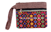 Traditional fabric Beautyful Design Pettern Jute Hand Clutch bag 2014 style