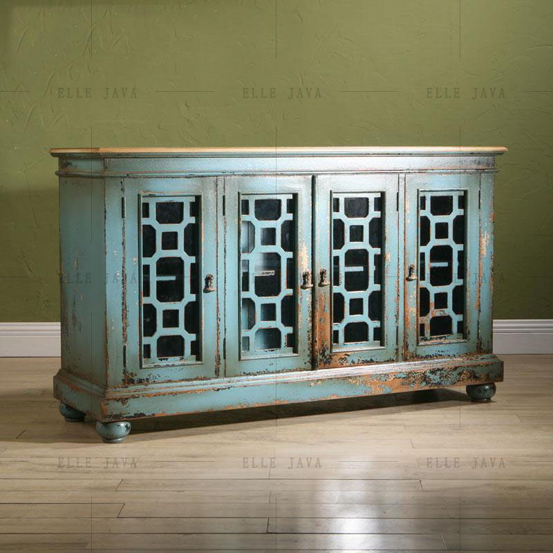 Painted Wooden Furniture Wooden Cabinet Antique Style