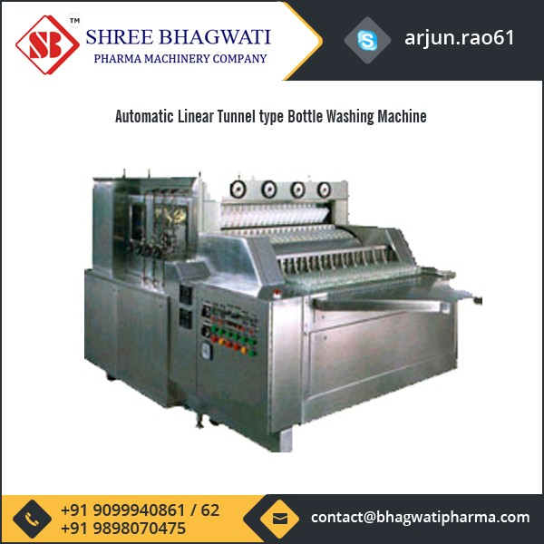 Top Grade Anti Corrosive Automatic Bottle Washing Machine for Food & Beverages Industries