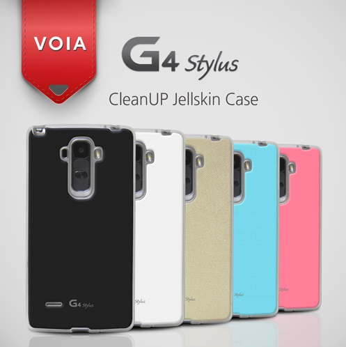 VOIA for LG G4 Stylus CleanUP Jellskin Case