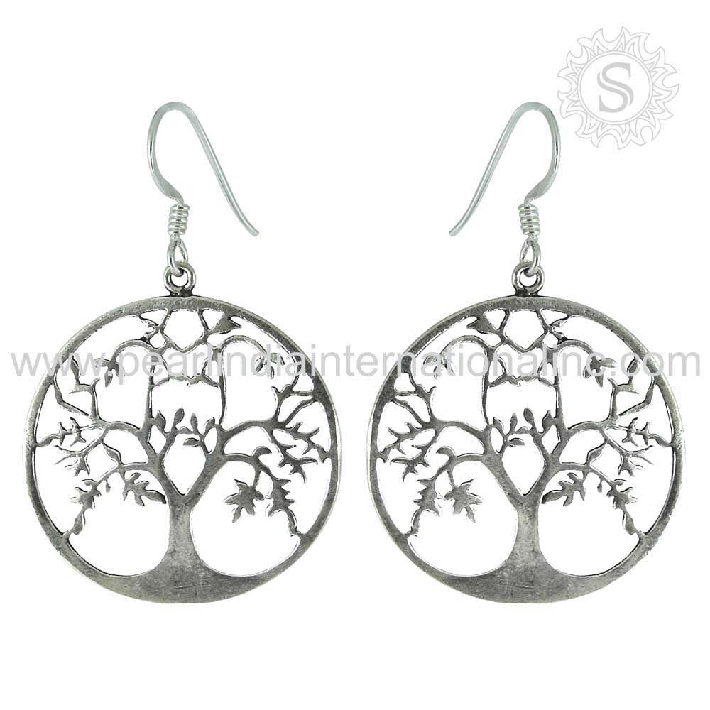 Beautiful Design Dangle Earrings For Girls Wholesale 925 Sterling Silver Jewelry Supplier