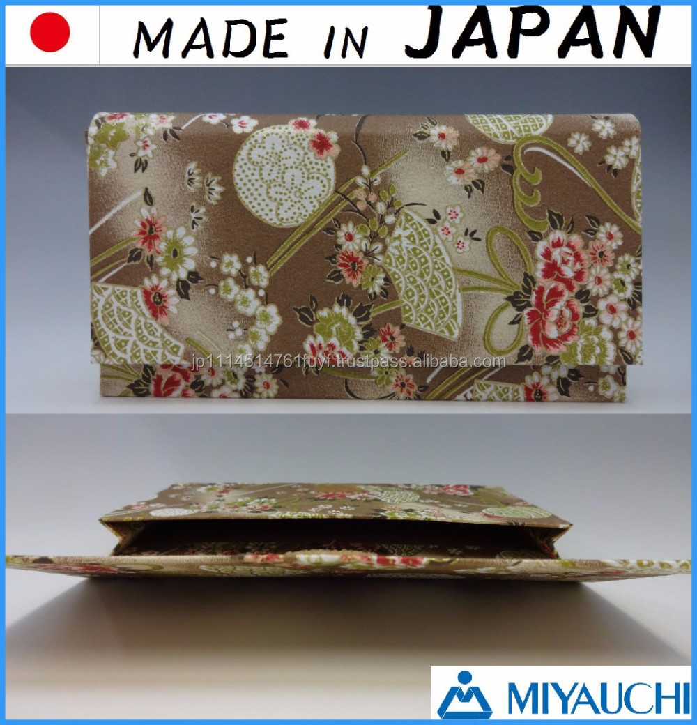 Japanese and Traditional cosmetic pouch yuzen washi for accessory case