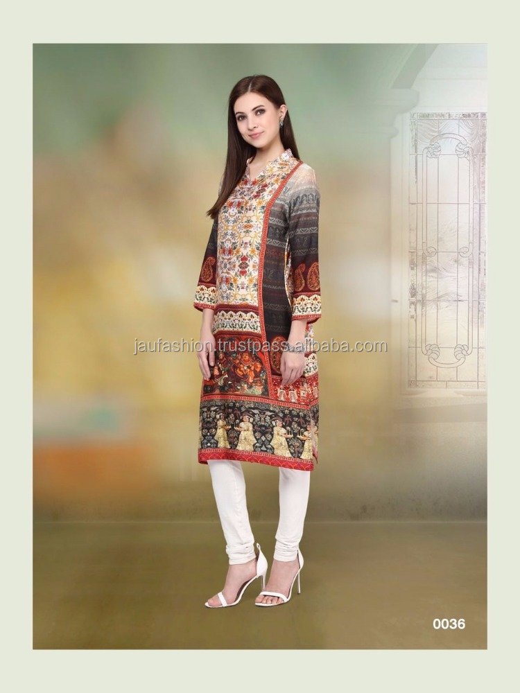 Huge Colour Combination Designer Kurti / Colour Huge Combination Designer Kurti