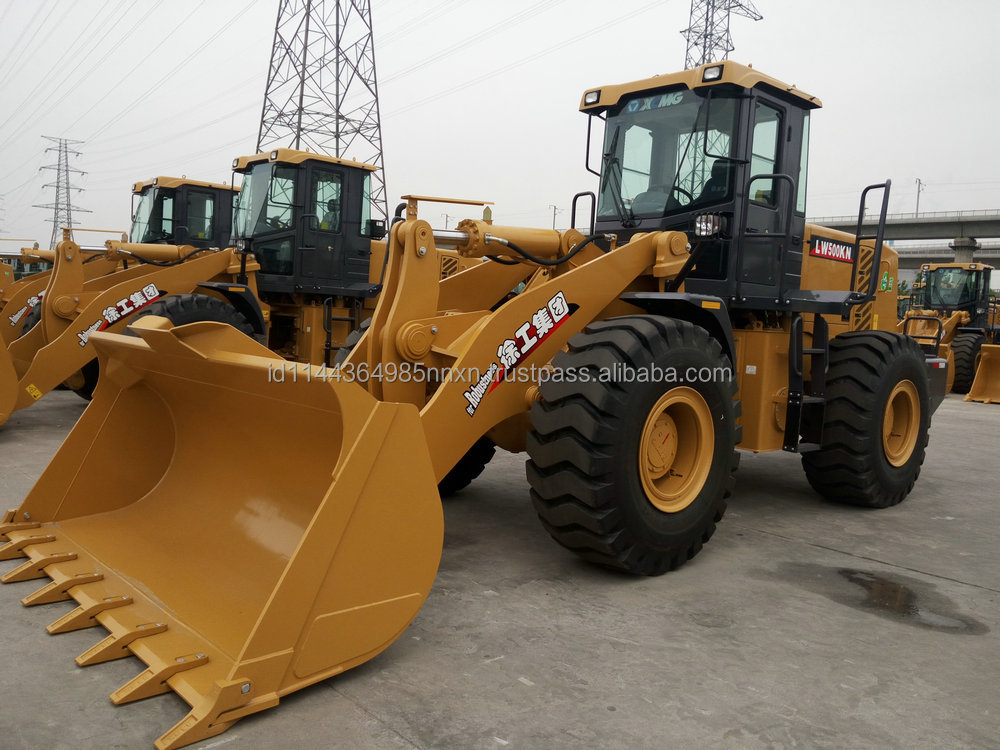 XCMG loader LW500KN mini tractor with front end loader and backhoe 2016 hot sale