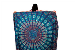 Mandala Cotton Peacock Feather Tapestry New Round Mandala Designs wall Hanging Tapestry