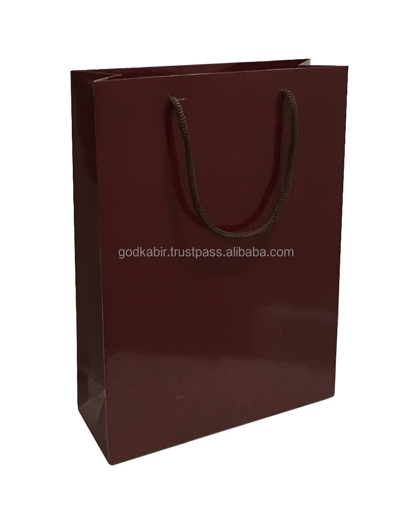 Simple and stylist look very very cheap rate Paper Bag Solid Dark Brown 8 inch x 11 inch x 3 inch for sale in wholesale and bulk