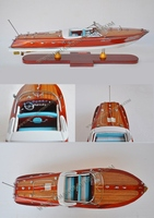 RIVA ARISTON SPEED BOAT, FIRST CLASS QUALITY PRODUCT FROM VIETNAM - MODEL SHIP HANDMADE