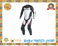 Newst ever style cowhide leather suit with race hump and CE approved armour / Racing P 1 Piece Suit - White , Black , Red