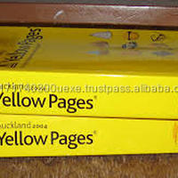 Old Telephone Directories Waste Paper Yellow