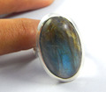 Hot Selling 925 Sterling Silver and Labradorite Jewelry Ring