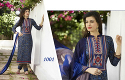 Cotton Embroidered Print Suits for ladies