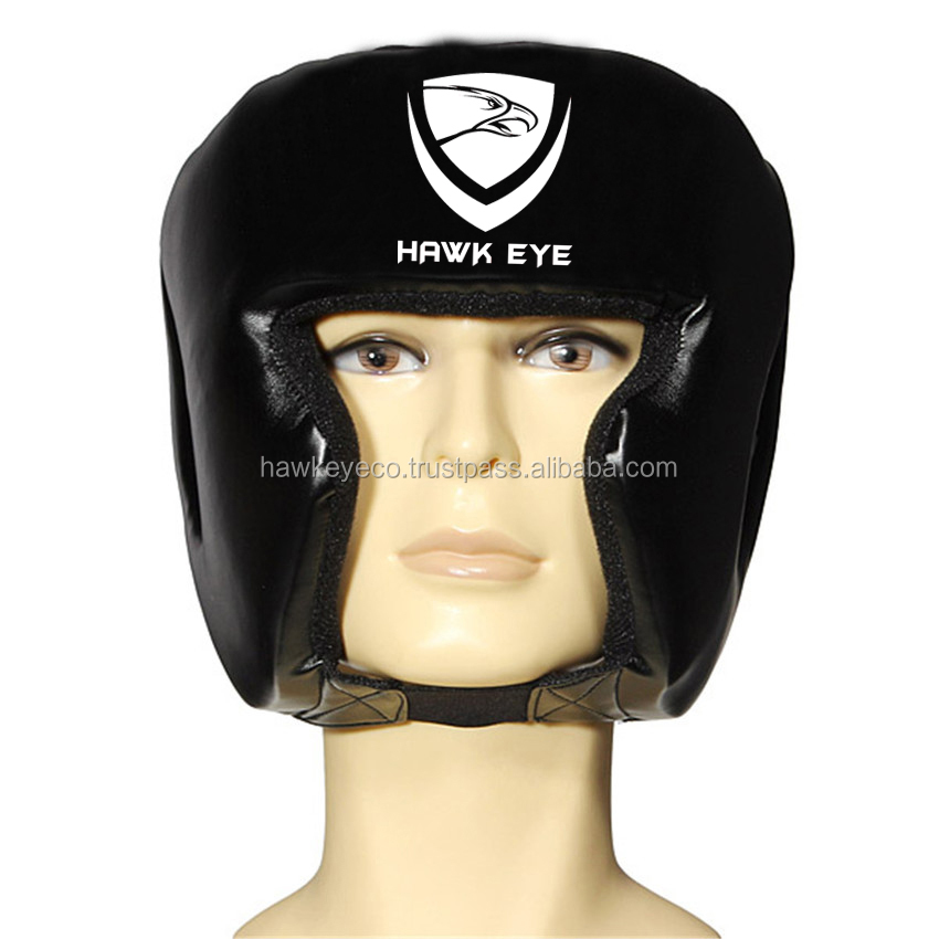 Boxing Head Guards, Head Gear, face Protector by Hawk Eye Co.