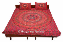 MANDALA COVERLET WALL HANGING TAPESTRY HIPPY INDIAN TAPESTRY BOHEMIAN BEDSPREAD 90 x 108 Inches
