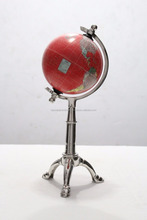 Cast Aluminium Globe, Metal Globe Table Decoration, Desktop world Globe