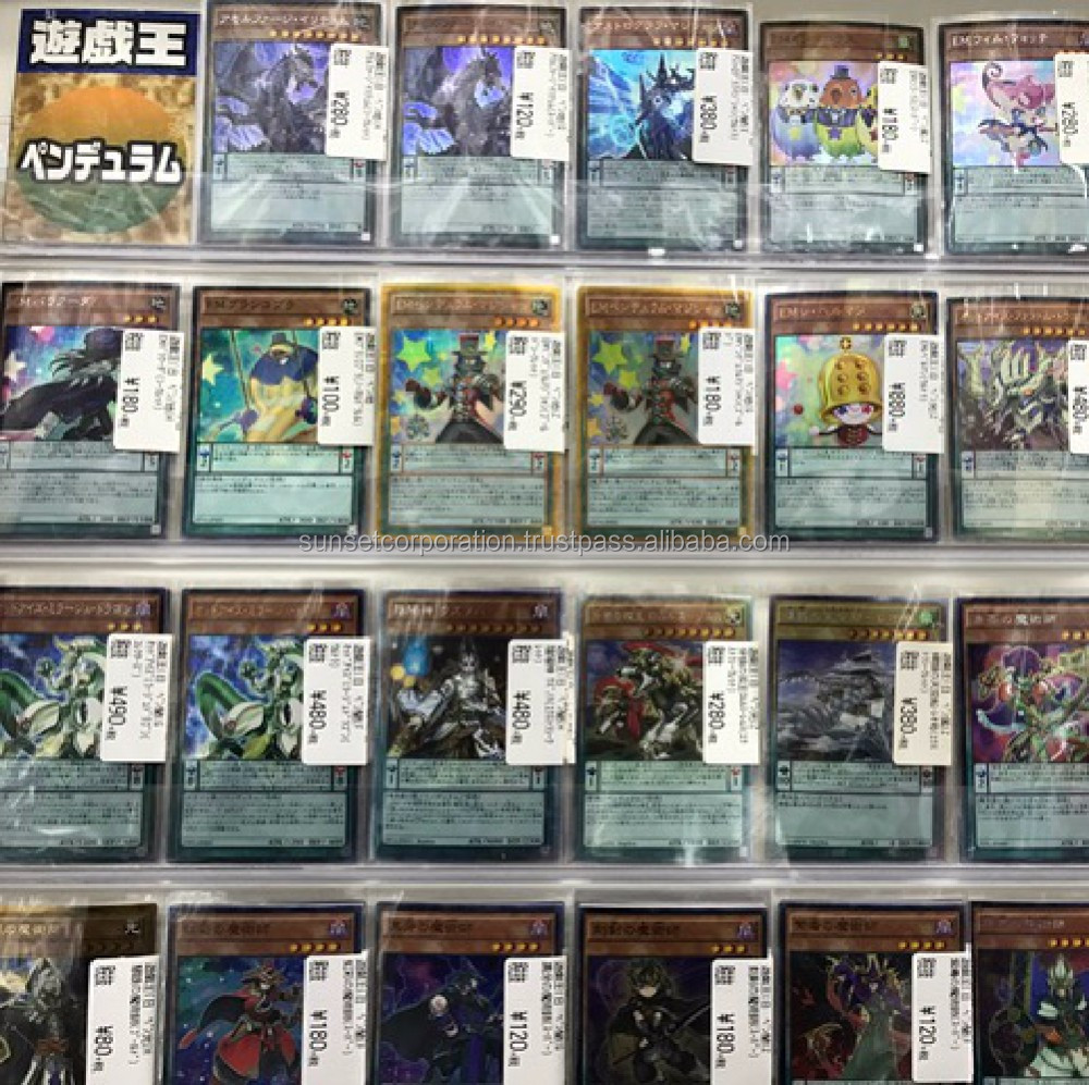 Wide variety of mint condition used trading cards adult games from popular anime