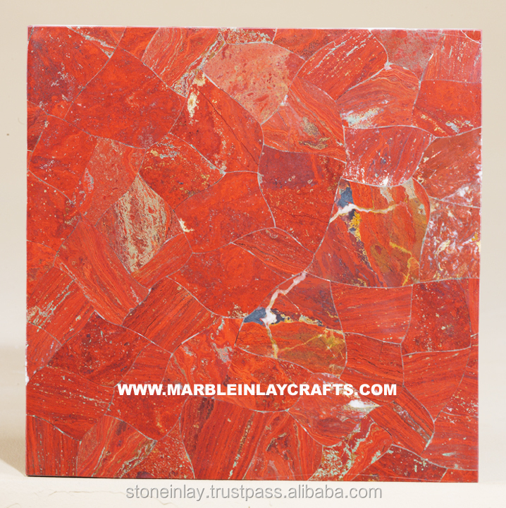 Red Jasper Semi Precious Stone Wall Tile