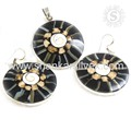 Fashionable Shell Gemstone Jewelry Set For Women 925 Sterling Silver Jewelry Wholesaler India