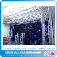 aluminum pipe stands truss light backdrop drapes