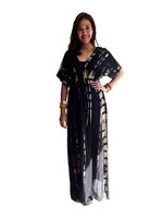 NEW TIE DYE HIPPIE BOHO GYPSY DRESS WOMEN COLORFUL SUMMER PLUS SIZE .