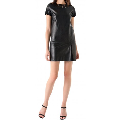 new fashion latest leather dress/ladies leather dress /leather hot wear/stylish leather women wearing