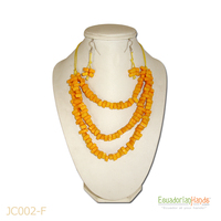 Necklaces And Earrings - Handmade Eco Ivory Tagua Jewelry (Jc002-F)