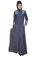 Girls Abaya Stretch Dubai Style Denim Abaya