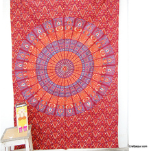 Wholesale indian cotton bedspread decorative wall hanging tapestry