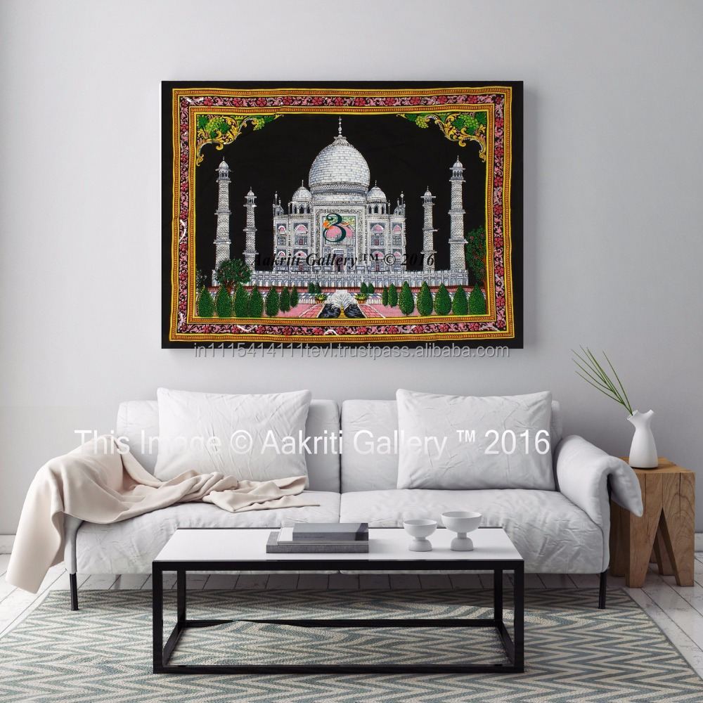 Indian Taj Mahal Wall Hanging Decor Tapestry Art Poster Throw Aakriti Gallery