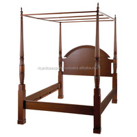 Wholesale price wooden four column poster bed for sale