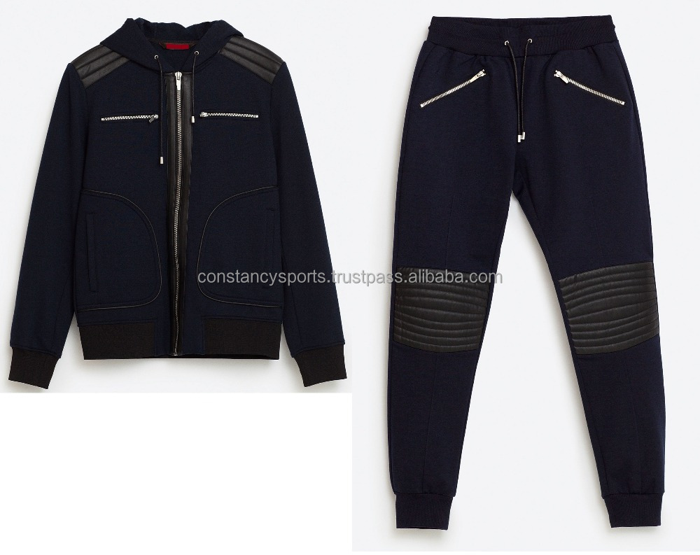 Latest Design Customized Biker Tracksuit/Za Men Sweatsuit/ Custom made Men Jogging Suit Ra Sweat suits2016