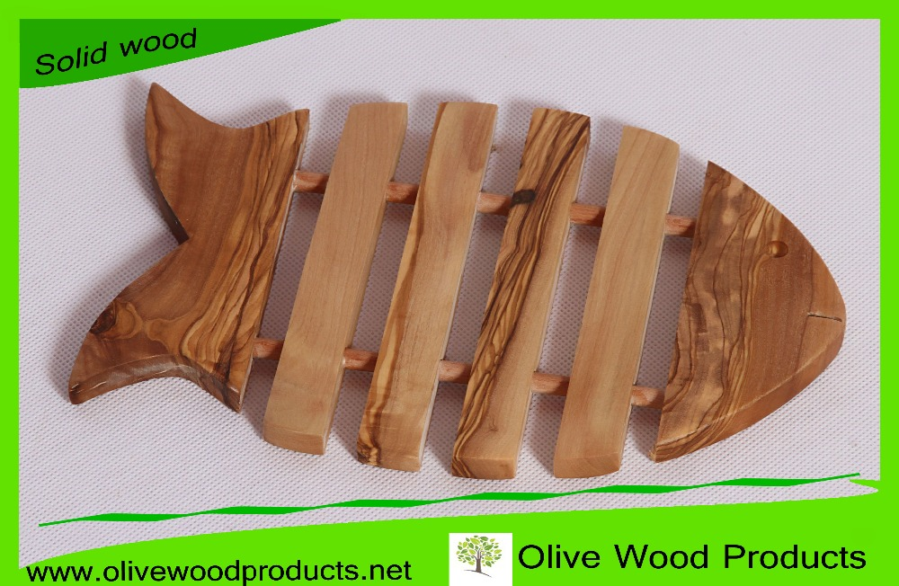 Underplates, Charger Plate, Under Dish, Olive Wood Decoration Fish