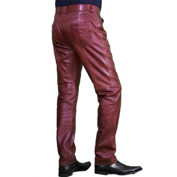 Leather man's pants with direct to garment printer