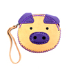Genuine Leather Piggy Coin Purse Fair Trade - Purple