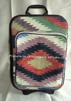 indian hand woven cotton durry trolley luggage bag