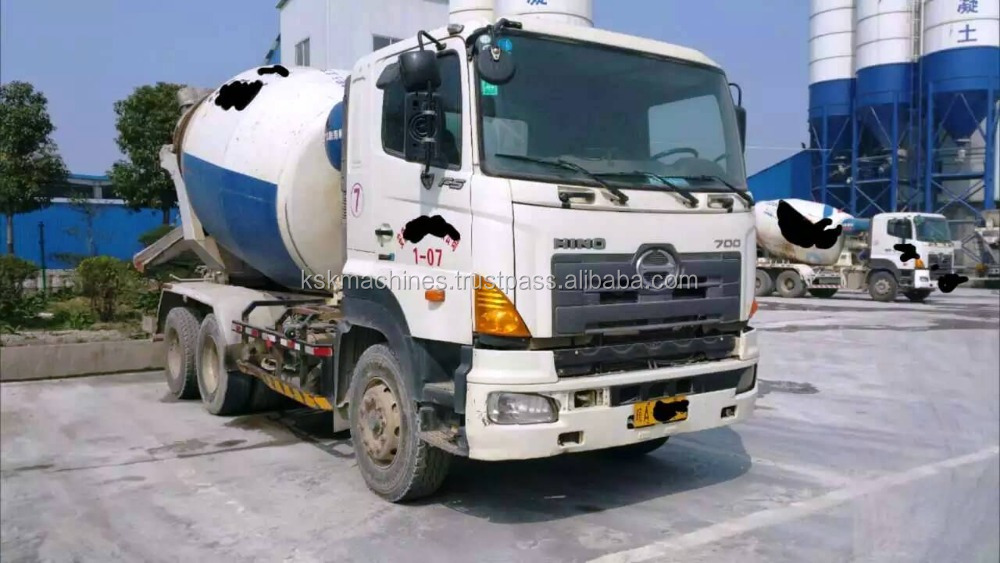 Used construction & real estate Japan equipments producing Hino 500 cement concrete