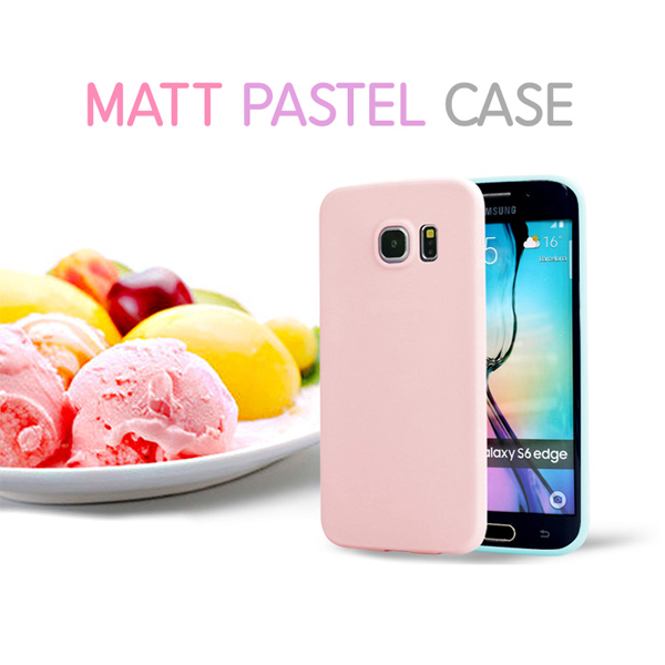 00008 For Galaxy S7 S7 Edge S6 Edge Plus S6 Edge S6 S5 Matt Pastel Case TPU Jelly Smart Cellular Mobile Phone Case Cover Casing