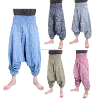 Hippie Hmong Baggy Gypsy Hammer Aladdin Men Genie Harem Pants Trousers