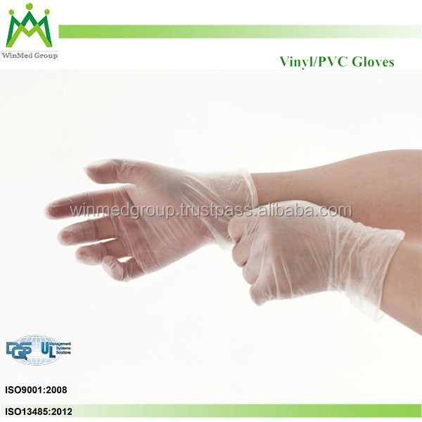 Stretch Synthetic Vinyl PVC Exam Gloves /Factory manufactured disposable vinyl gloves
